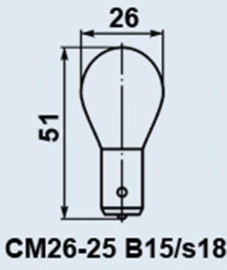 лампа СМ 26-25 b15s